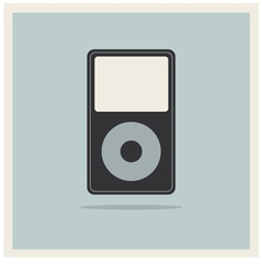 Musc Media MP3 Player on Retro Vintage Background vector image vector image