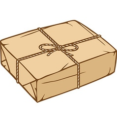 Parcels wrapped in rope icon vector