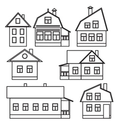 Private houses vector image vector image