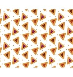 Purim hamantaschen seamless pattern jewish vector