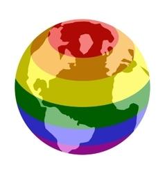 Rainbow planet isometric 3d icon vector image vector image