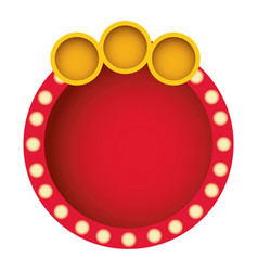 Red round bubble with circle icon vector