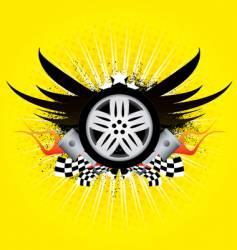 rim emblem vector image