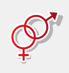 sex symbol sign new year reddish icon vector image