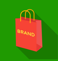 Shopping bag icon in flat style isolated on white vector