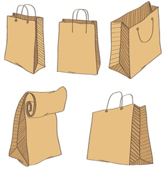 Shopping Bags isolated on a white vector image vector image