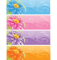 spring flowers banner set vector image vector image