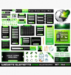 web design elements collection vector image vector image
