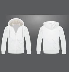 white hooded garment vector image vector image