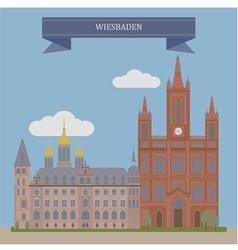 Wiesbaden vector image vector image