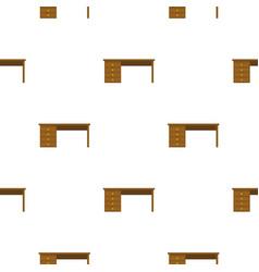 Wooden office desk pattern flat vector