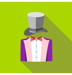 Tuxedo and top hat icon flat style vector