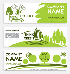 Eco green business banner template design vector