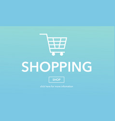 Online shopping commerce web page concept vector