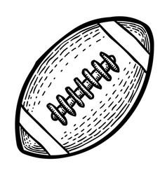 Cartoon image of rugby icon sport symbol vector