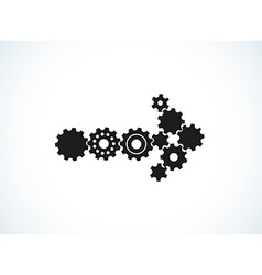 Cogwheel arrow vector