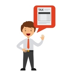 Tax payment design vector