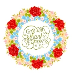 Flower wreath floral element for design of vector