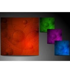 set of grunge backgrounds vector image
