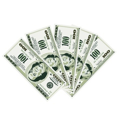 Five hundred dollar bills vector