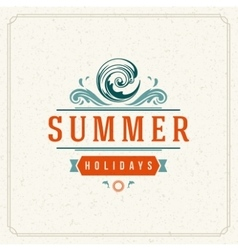 Summer holidays typography label design on grunge vector