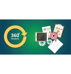Marketing 360 degree with goals vector