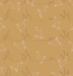 Seamless pattern for background composed of styliz vector