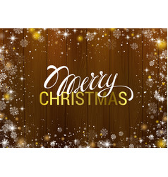 christmas greeting texture on wooden background vector image