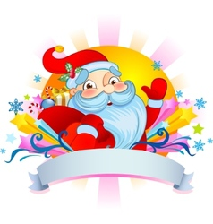 Christmas poust card with Santa vector image vector image