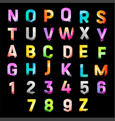 Color alphabet for promotional items bright vector