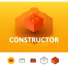 Constructor icon in different style vector