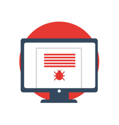 Cyber crime hacking icons vector