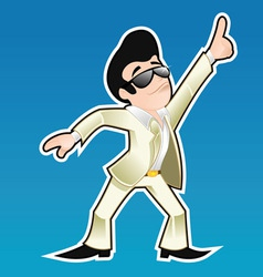 Disco dancer vector