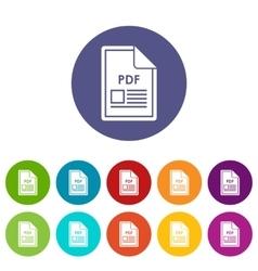 File PDF set icons vector image