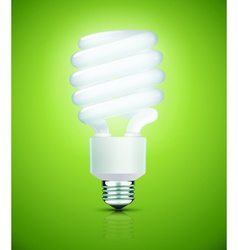 fluorescent lightbulb vector image