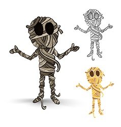 Halloween monsters isolated spooky mummies set vector