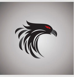 Hawk ideas design on background vector