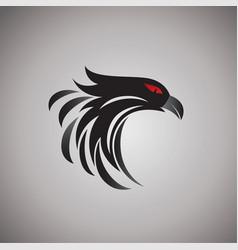 hawk ideas design on background vector image vector image