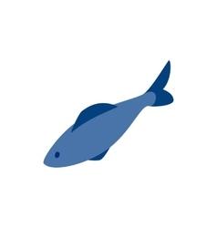 Herring fish icon isometric 3d style vector image