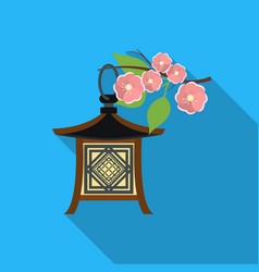 japanese lantern icon in flat style isolated on vector image vector image