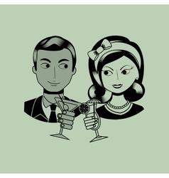 lady and gentleman design vector image