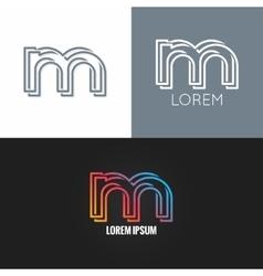 Letter m logo alphabet design icon set background vector