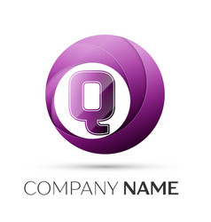 Letter q logo symbol in the colorful circle on vector