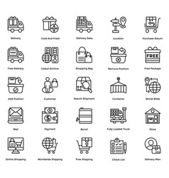 Logistic delivery icons set 5 vector