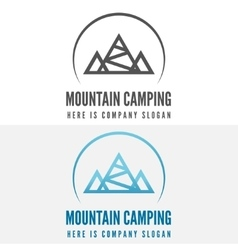 Modern camp badge logo emblem and logotype vector