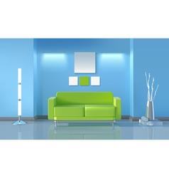 Modern living room design vector