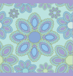Oriental flower pattern abstract floral ornament vector