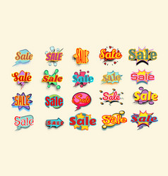 sales background with comic bubble vector image