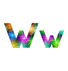 Set of letters firework w vector