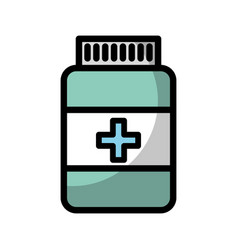 Shadow pill bottle vector
